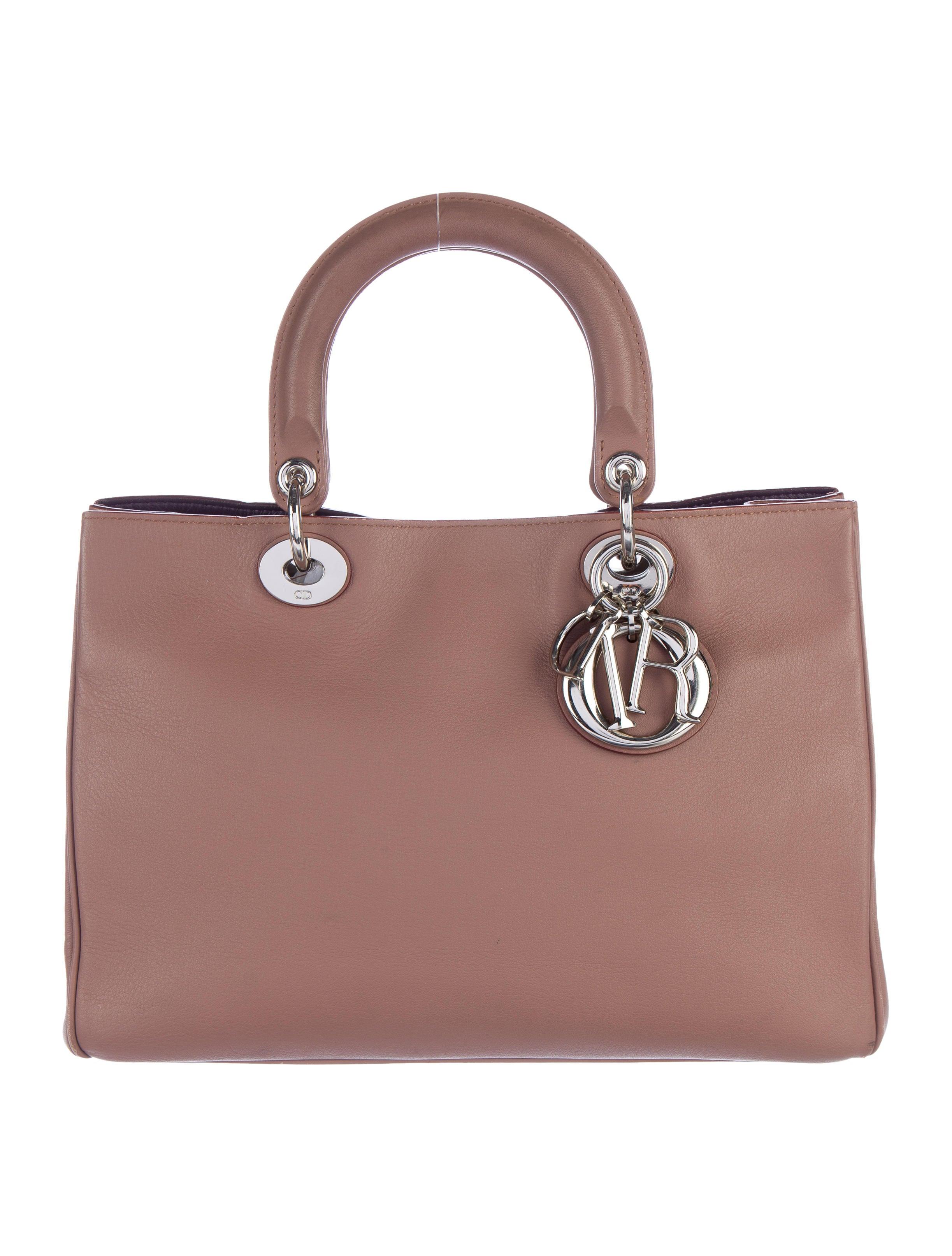 Christian Dior Medium Diorissimo Bag Handbags CHR49861  : CHR498611enlarged from www.therealreal.com size 2446 x 3227 jpeg 548kB