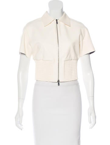 Christian Dior Cropped Leather Top None