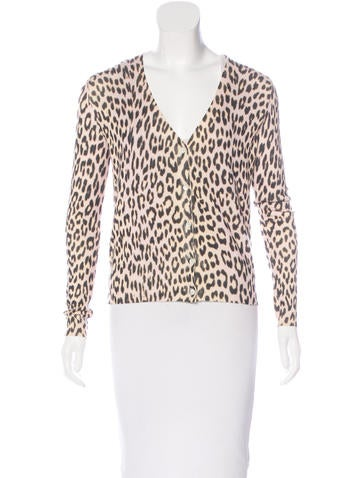 Christian Dior Cheetah Knit Cardigan None
