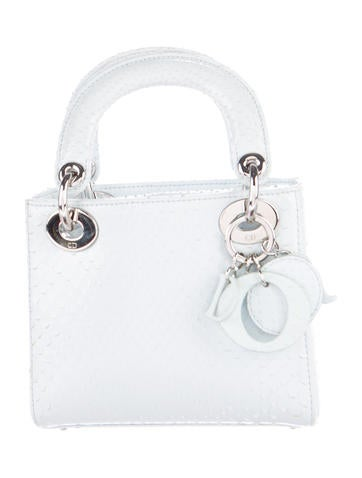 Christian Dior Mini Python Lady Dior Bag