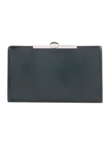Christian Dior Leather Frame Clutch