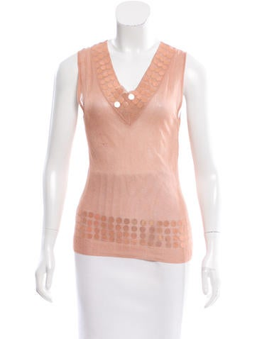 Christian Dior Embellished Knit Top None
