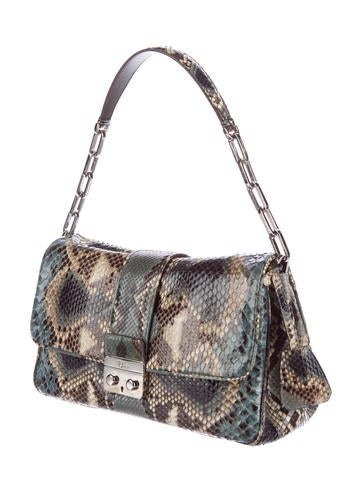 Snakeskin New Lock Flap Bag