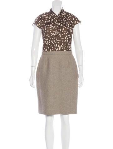Christian Dior Wool & Silk Dress None