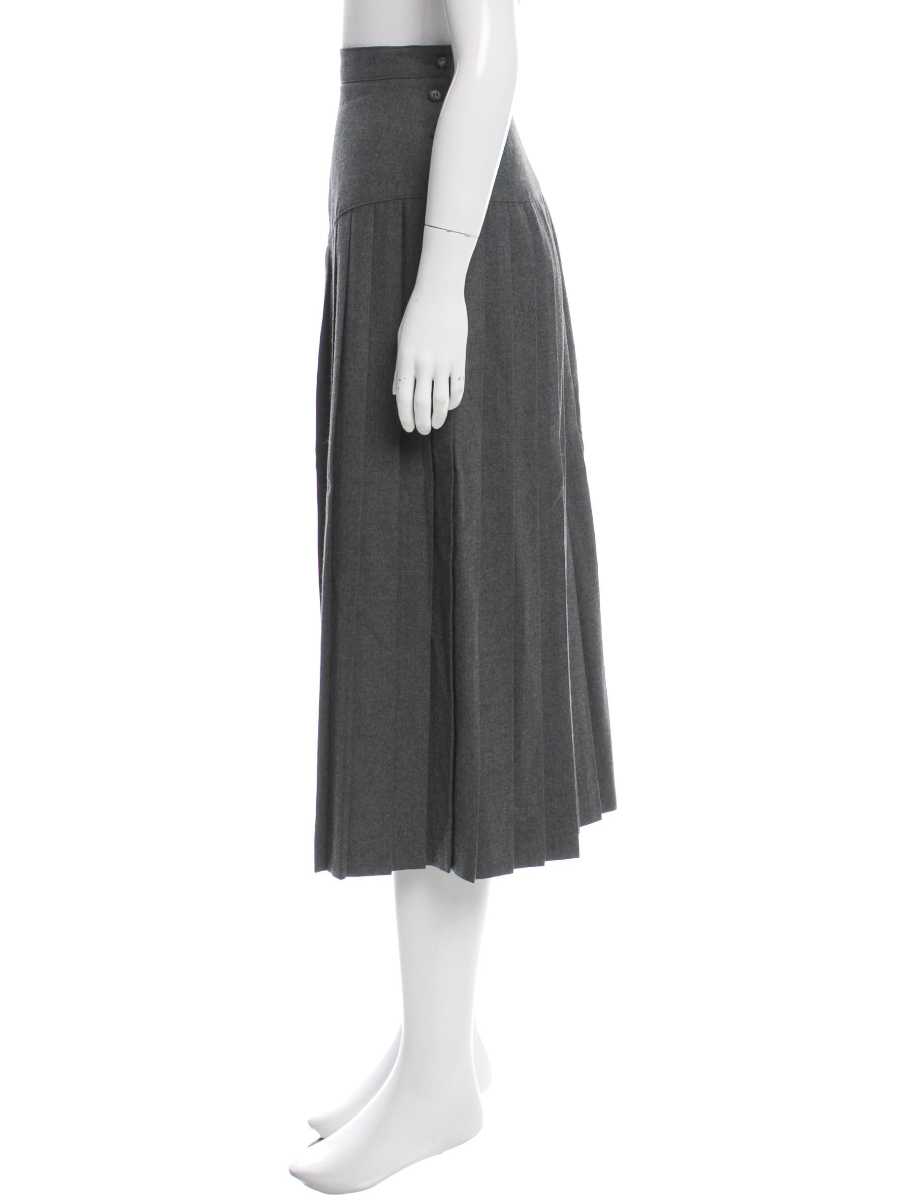 christian wool pleated skirt clothing chr51656