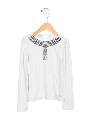 Christian Dior Girls' Embellished Long Sleeve Top None