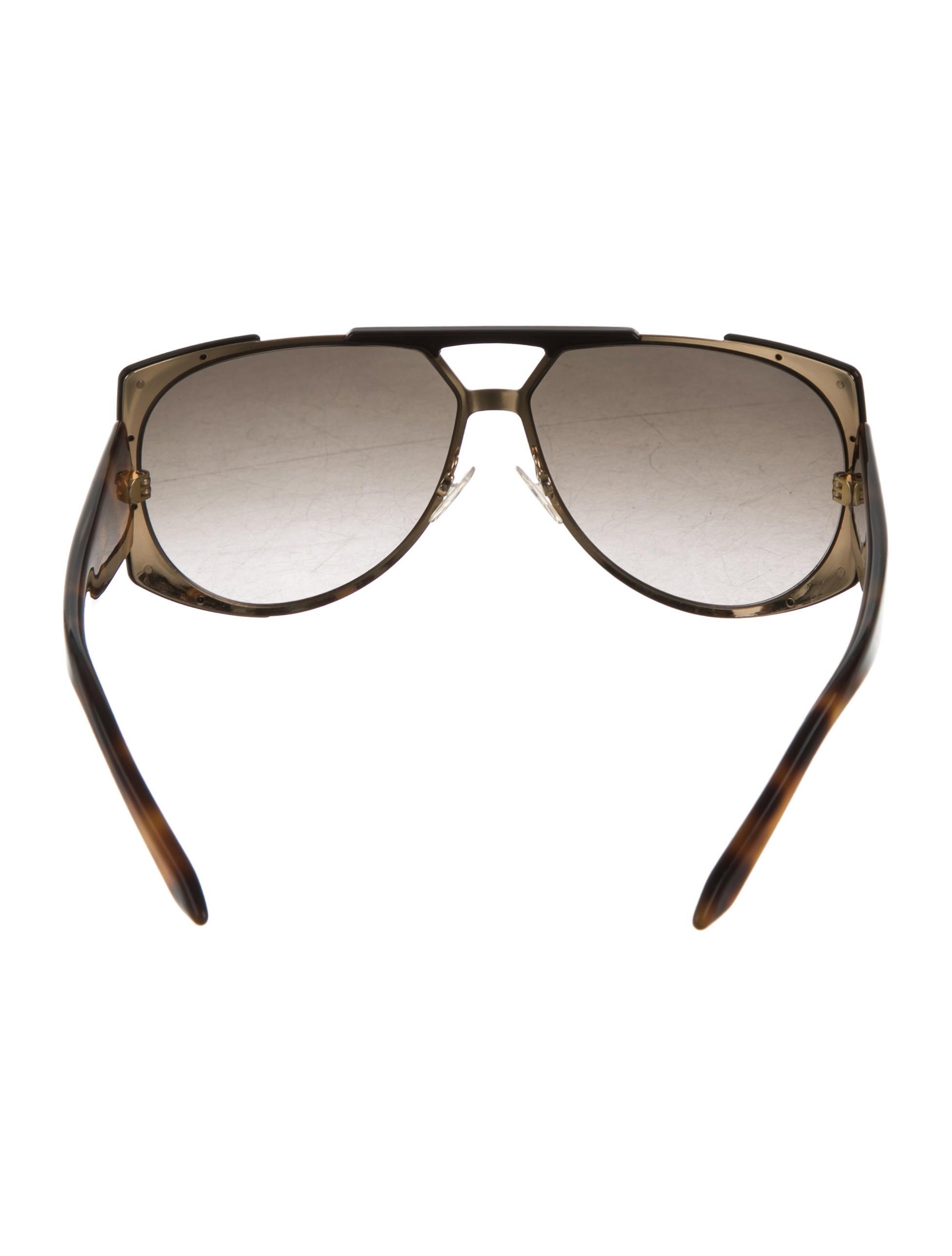 406ab4ab4a02 Dior Aviator Sunglasses Brown