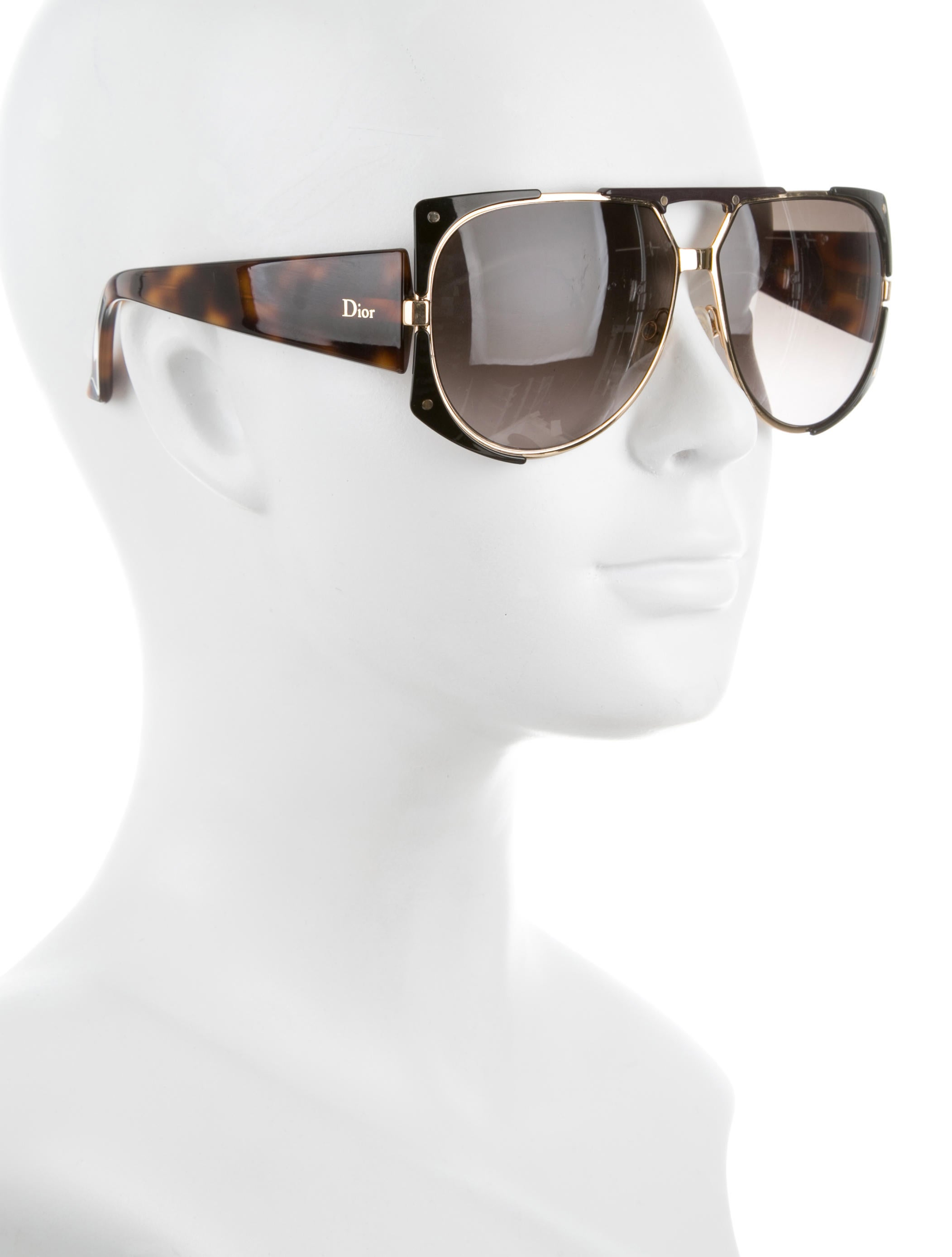 c6fb5f11eeb Dior Aviator Sunglasses Brown. Christian Dior Tortoiseshell Aviator  Sunglasses - Accessories ...