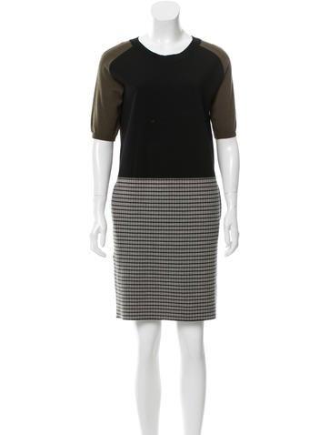 Christian Dior Colorblock Wool Dress None