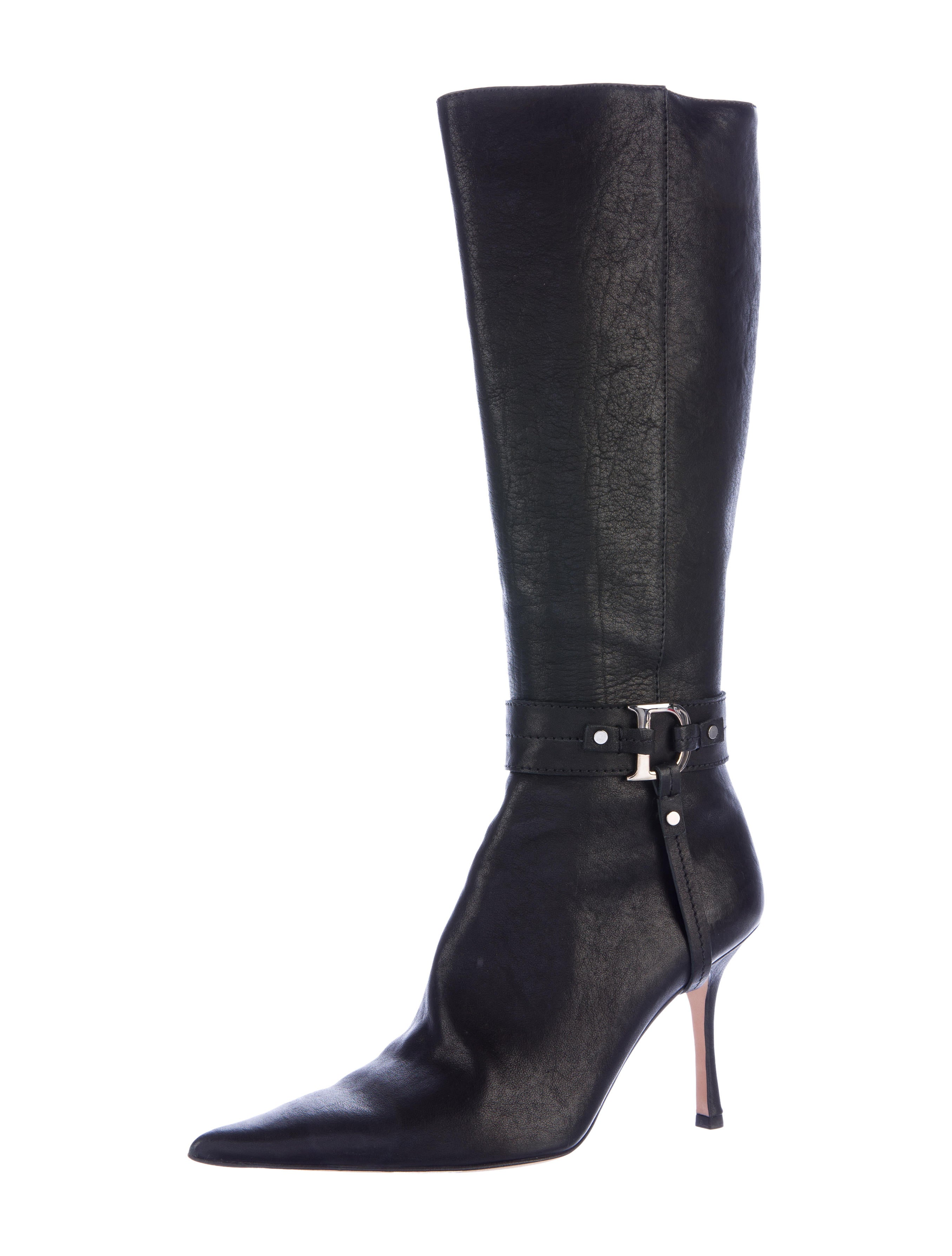 christian pointed toe knee high boots shoes