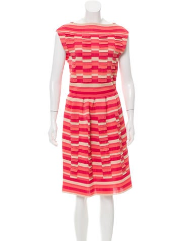 Christian Dior Striped Knit Dress w/ Tags None