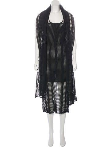 Christian Dior Sheer Sleeveless Dress None