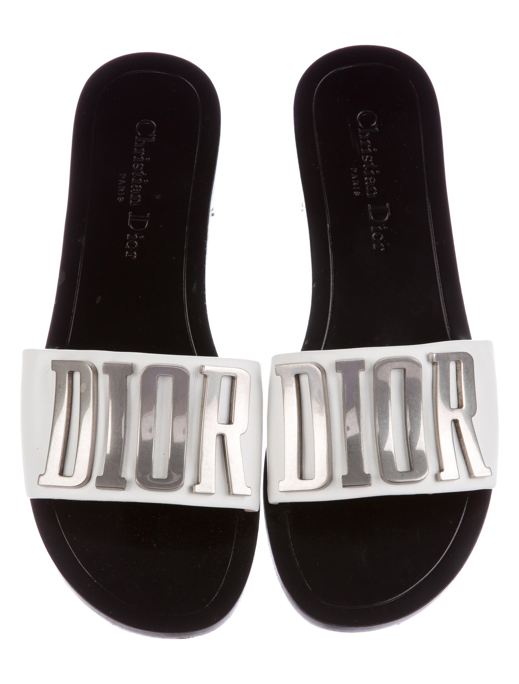 Christian Dior Summer 2017 Evolution Slide Sandals Shoes  : CHR523613enlarged from www.therealreal.com size 2129 x 2808 jpeg 304kB