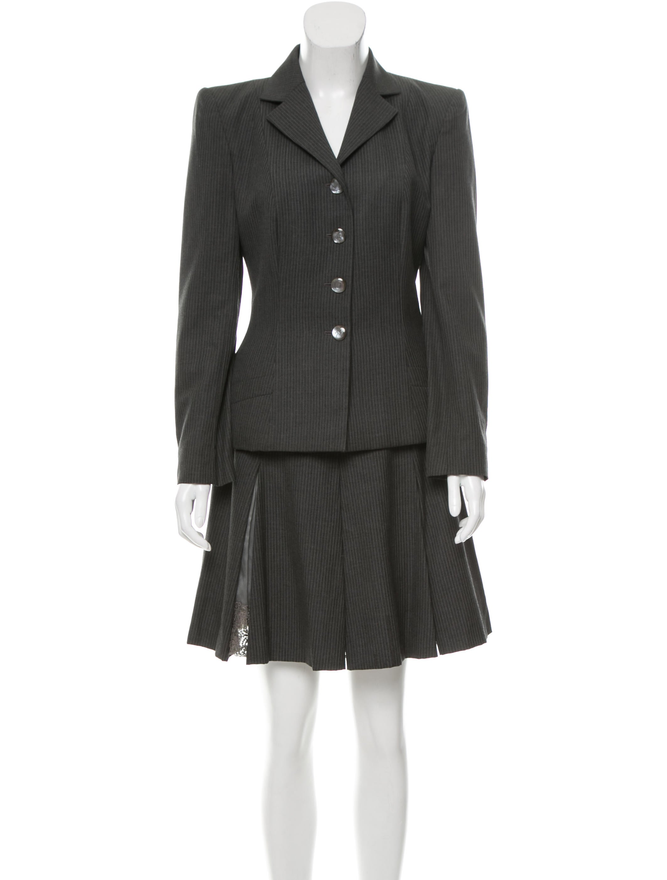 Christian Dior Wool Skirt Suit - Clothing