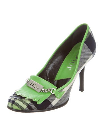 outlet factory outlet clearance recommend Christian Dior Plaid Kiltie Pumps buy cheap price brand new unisex cheap price E0UhEmoP