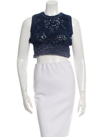 Christian Dior Knit Crop Top None