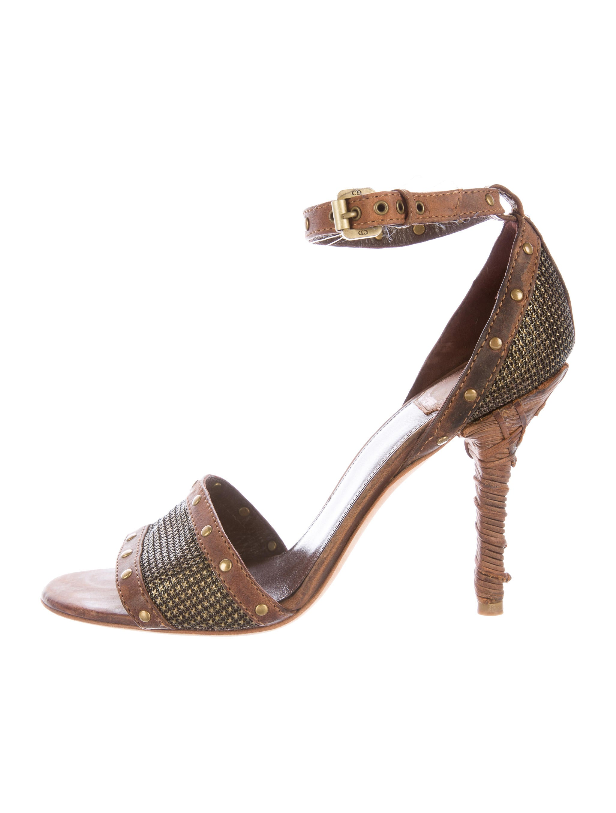 Christian Dior Leather Studded Sandals discount sale online discount best seller discount footlocker finishline sale newest sale nicekicks iNxgG6V