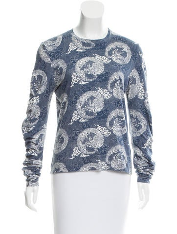 Christian Dior Printed Long Sleeve Top None