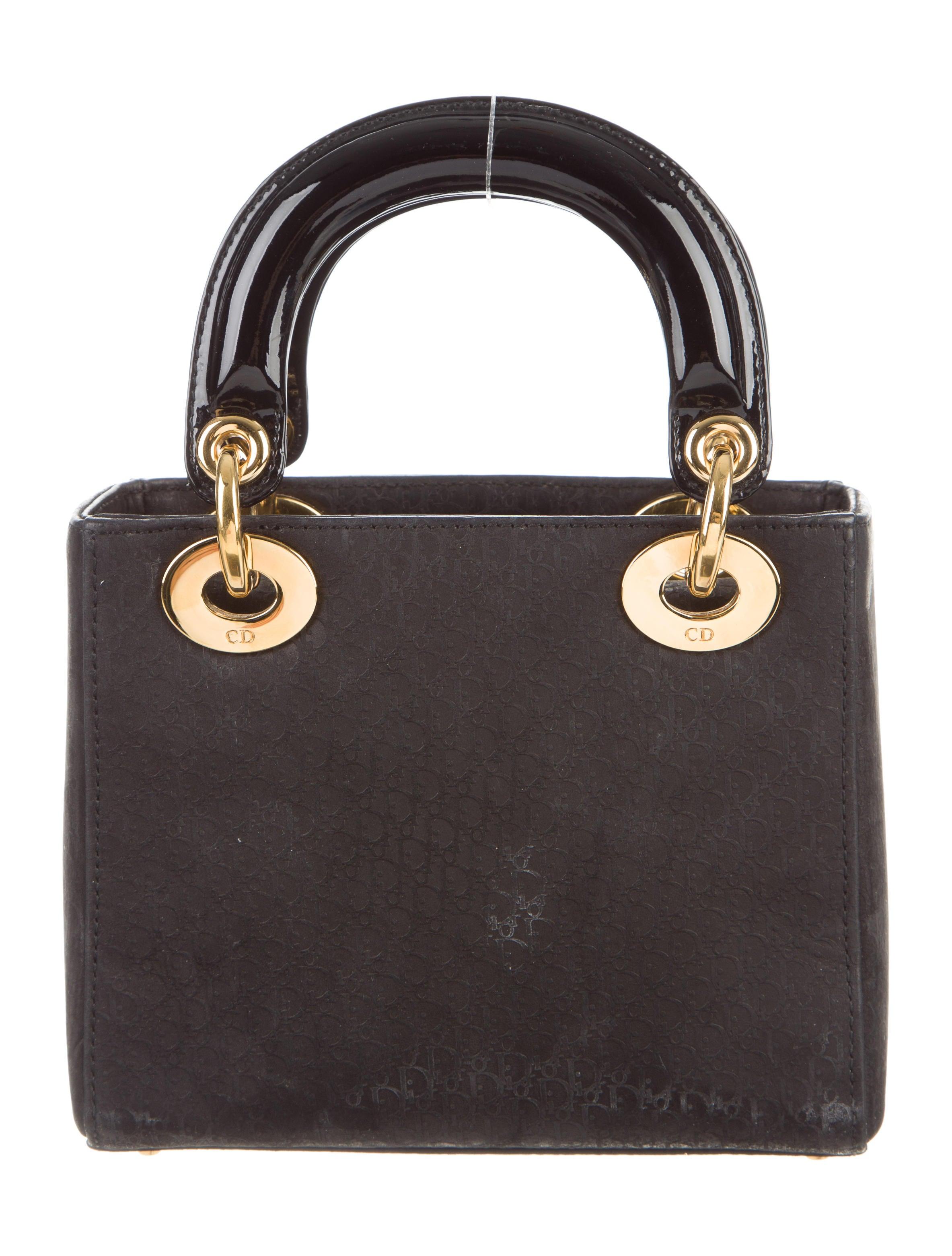 christian dior mini lady dior bag handbags chr53499 the realreal. Black Bedroom Furniture Sets. Home Design Ideas