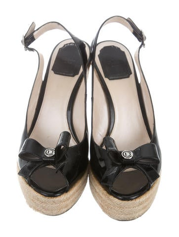 christian peep toe espadrille wedges shoes