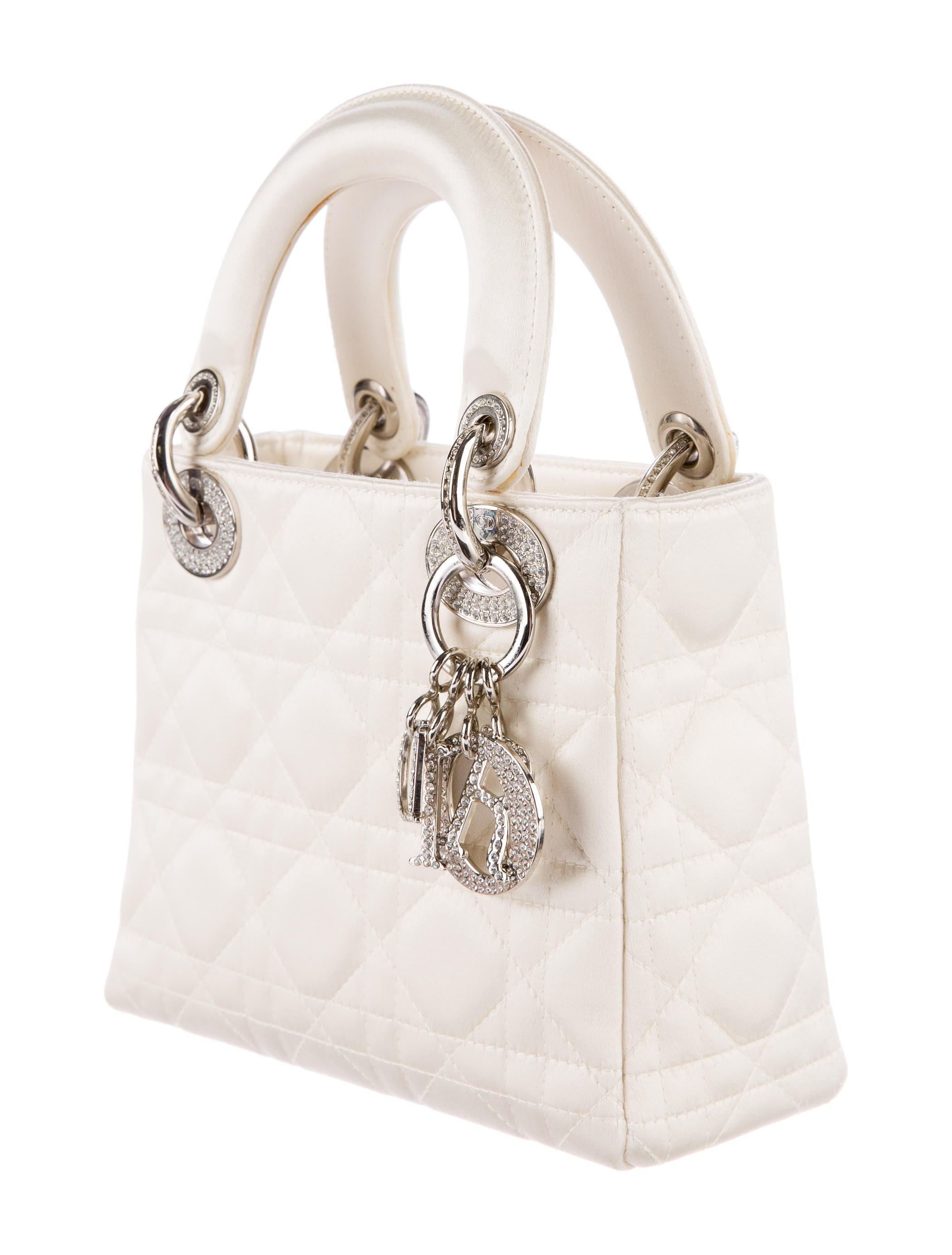 christian dior strass embellished mini lady dior bag handbags chr54208 the realreal. Black Bedroom Furniture Sets. Home Design Ideas