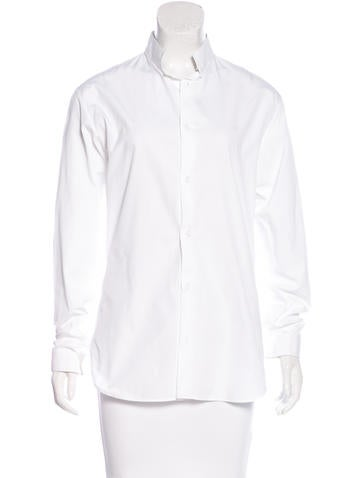 Christian dior collared long sleeve button up clothing for Christian dior button up shirt