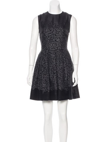 Christian Dior Embellished Pleated Dress None
