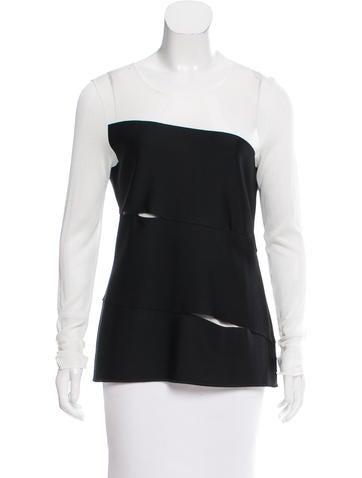 Christian Dior Cutout Mesh Top None