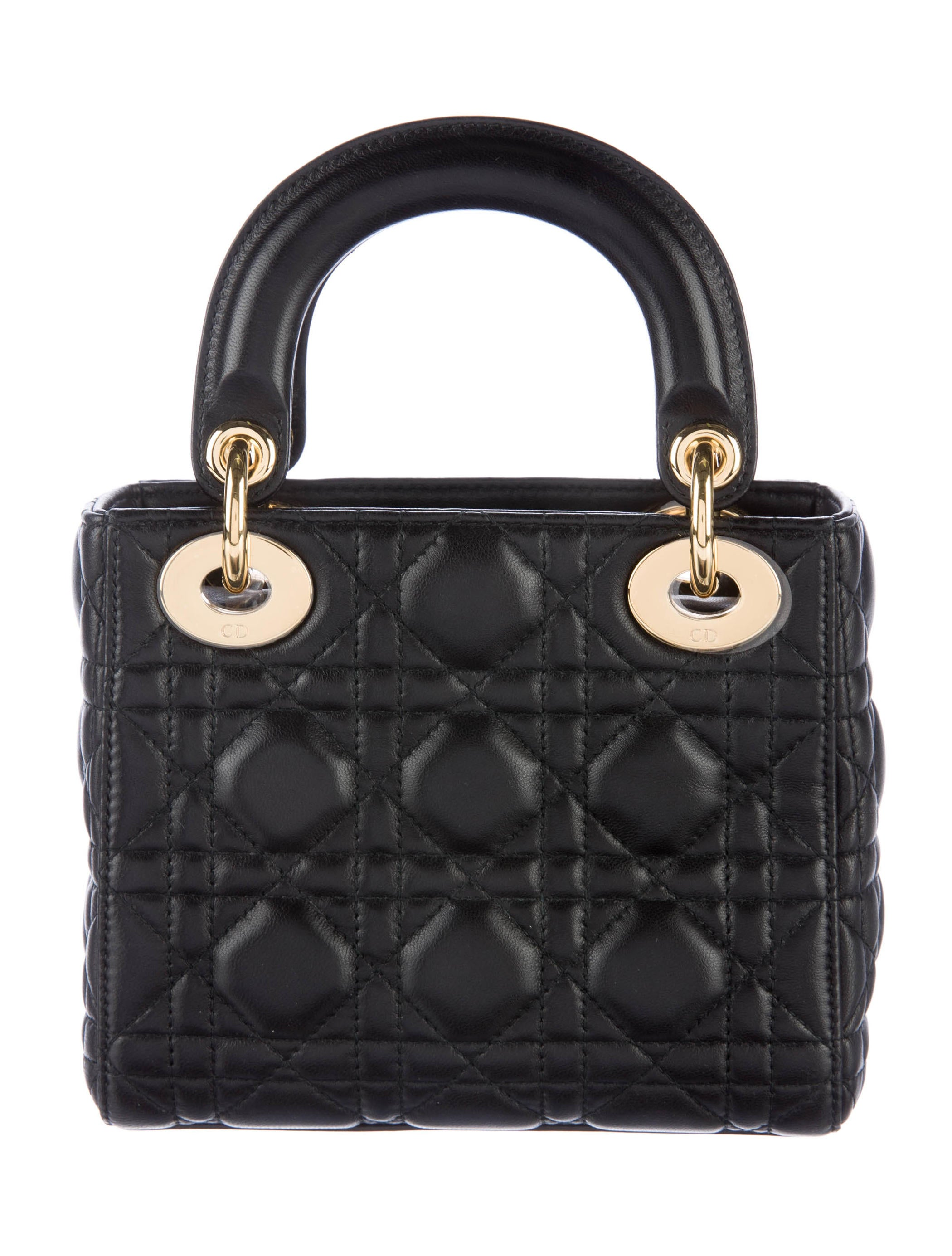 christian dior 2016 mini lady dior bag handbags chr55180 the realreal. Black Bedroom Furniture Sets. Home Design Ideas