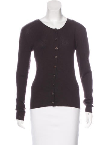 Christian Dior Cashmere & Silk-Blend Cardigan None
