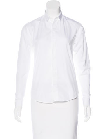 Christian dior collared button up top clothing for Christian dior button up shirt
