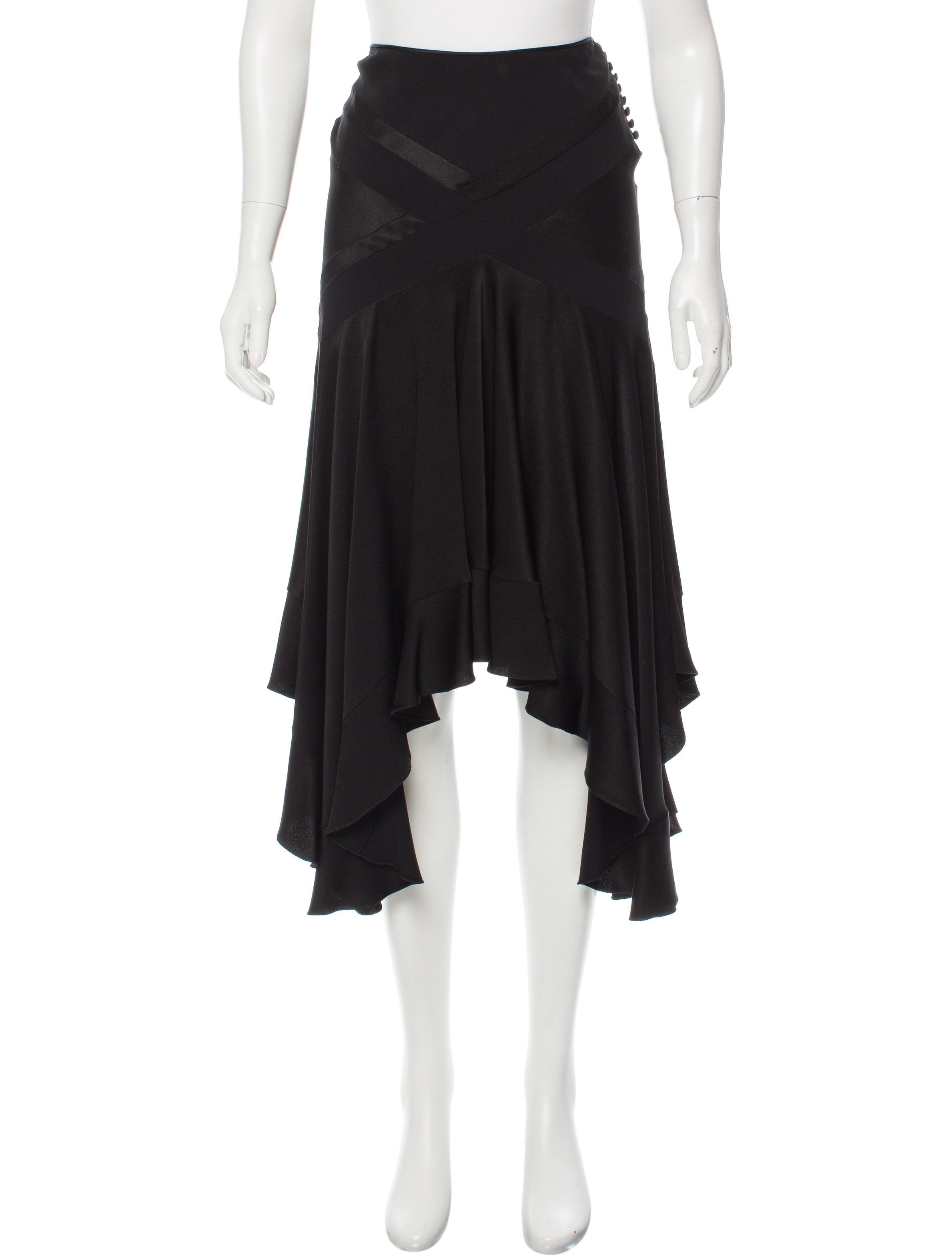 Christian Dior Asymmetrical Satin Skirt