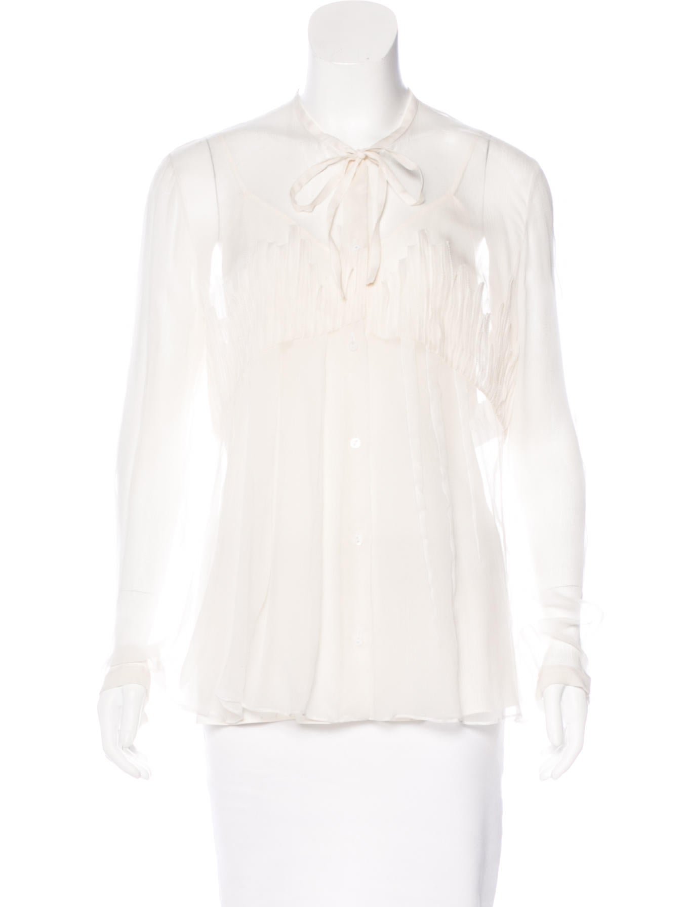Christian dior silk button up top clothing chr55752 for Christian dior button up shirt