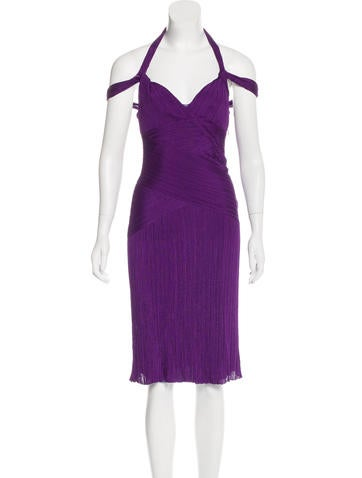 Christian Dior Sleeveless Rib Knit Dress None
