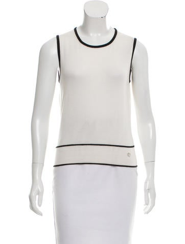 Christian Dior Cashmere & Silk-Blend Sleeveless Top None