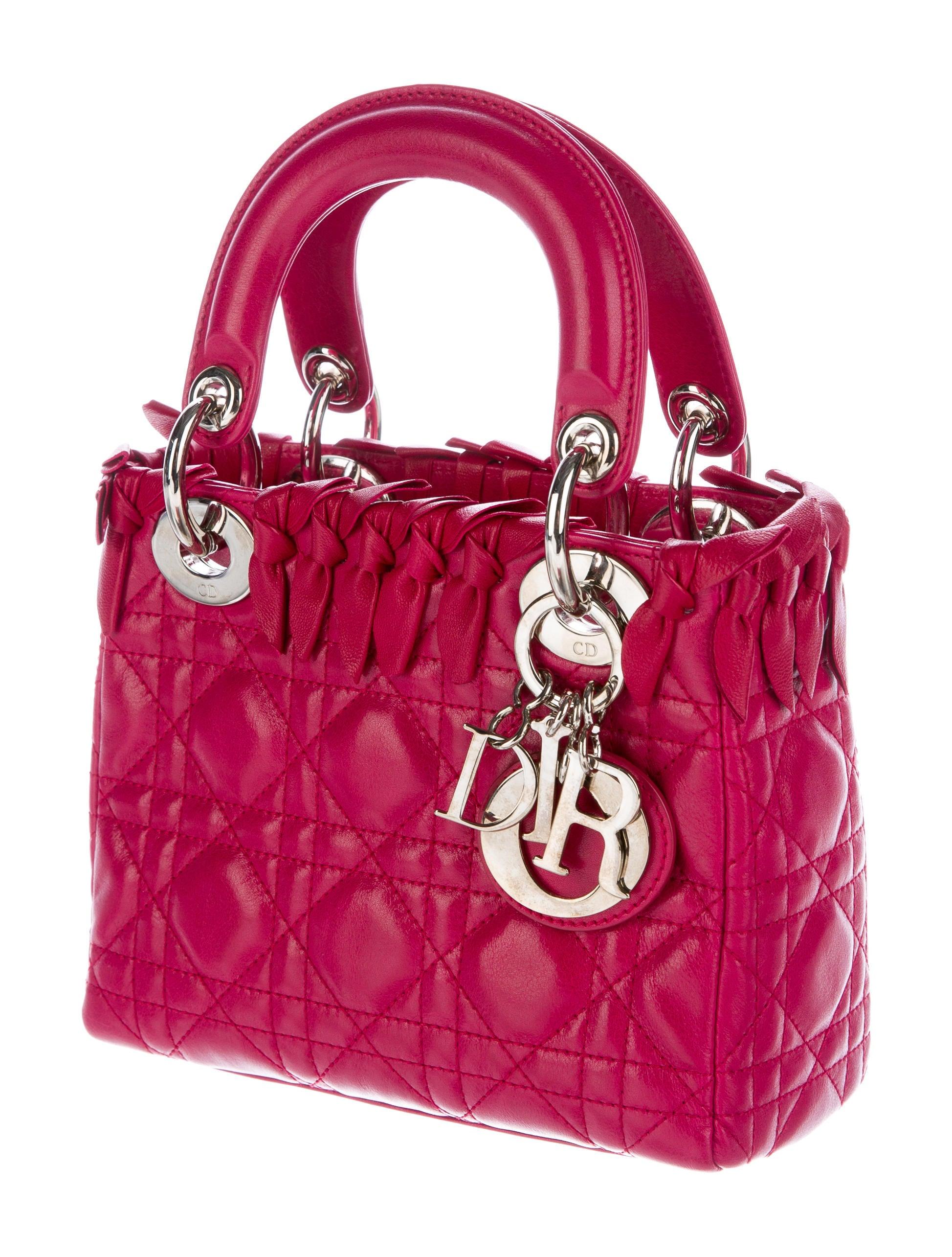christian dior mini lady dior bag handbags chr56777 the realreal. Black Bedroom Furniture Sets. Home Design Ideas