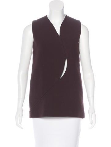 Christian Dior Wool Cutout Top None