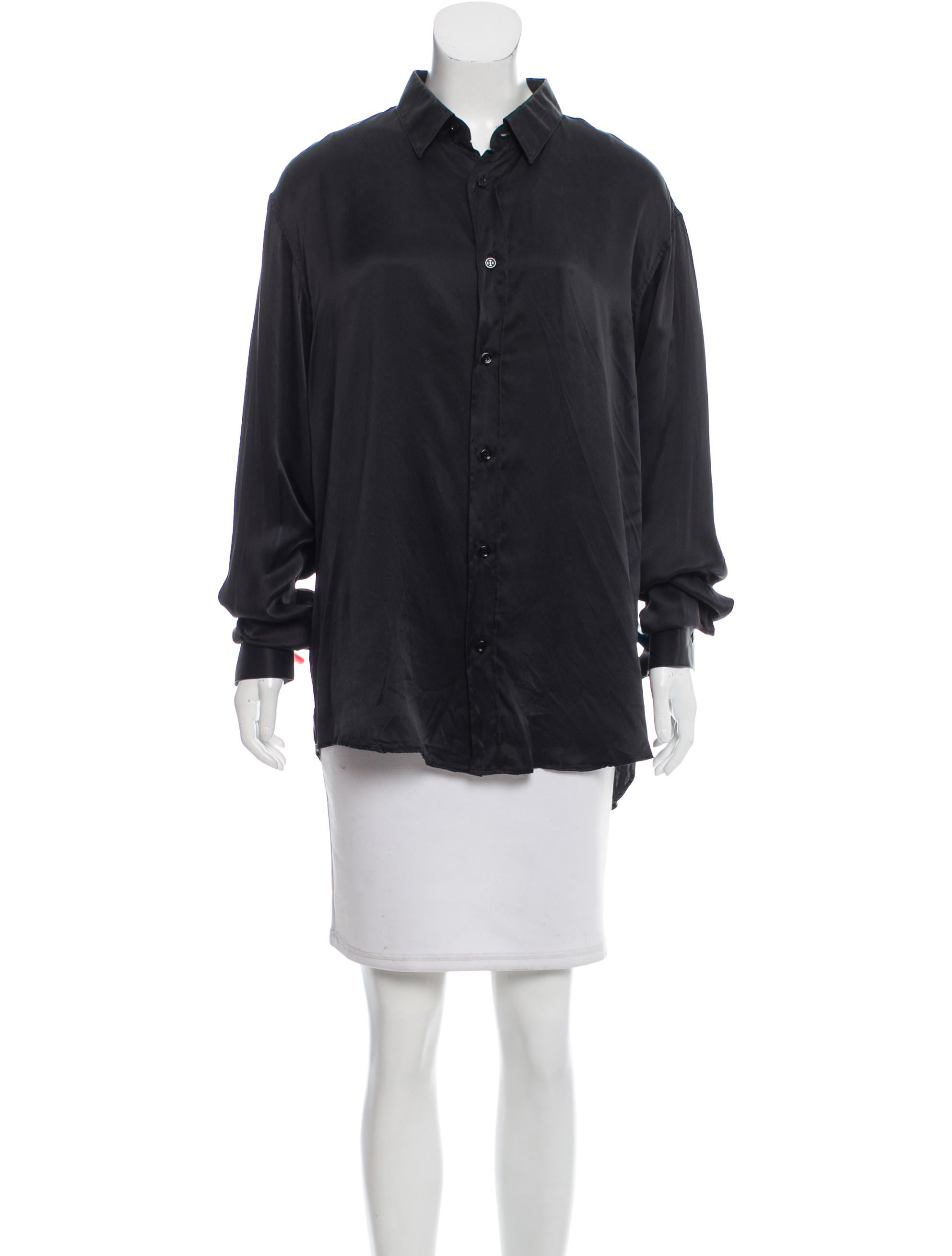 Christian dior silk button up top clothing chr56922 for Christian dior button up shirt
