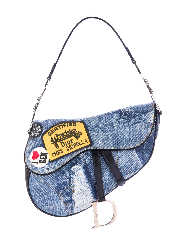 Christian Dior Speedway Denim Saddle Bag - Handbags - CHR56965  bc8507c3eee70