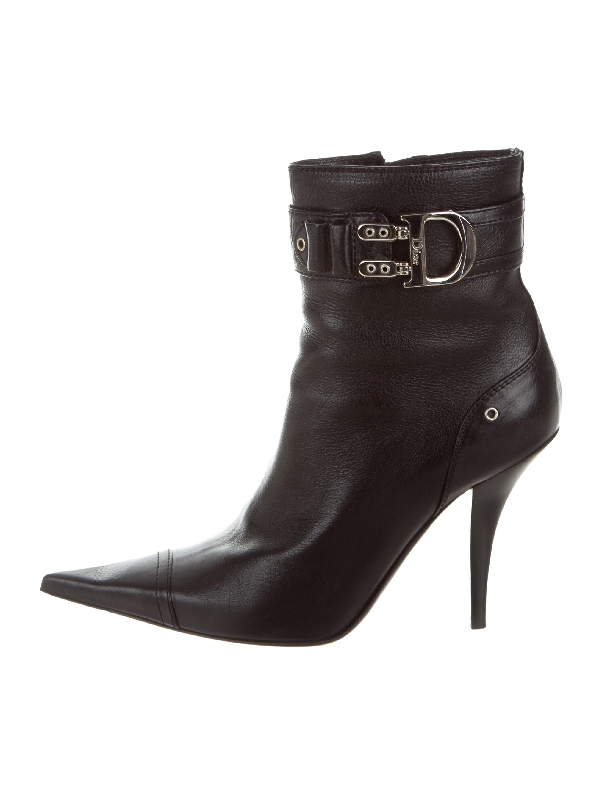 Christian Dior Logo Pointed-Toe Booties buy cheap good selling vaSoCr