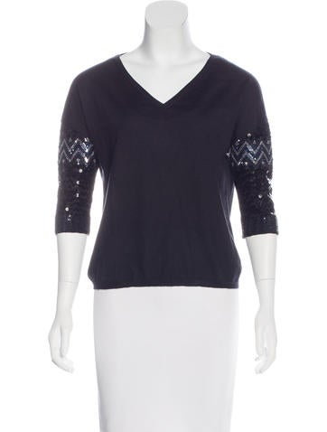 Christian Dior Cashmere Sequined Sweater None