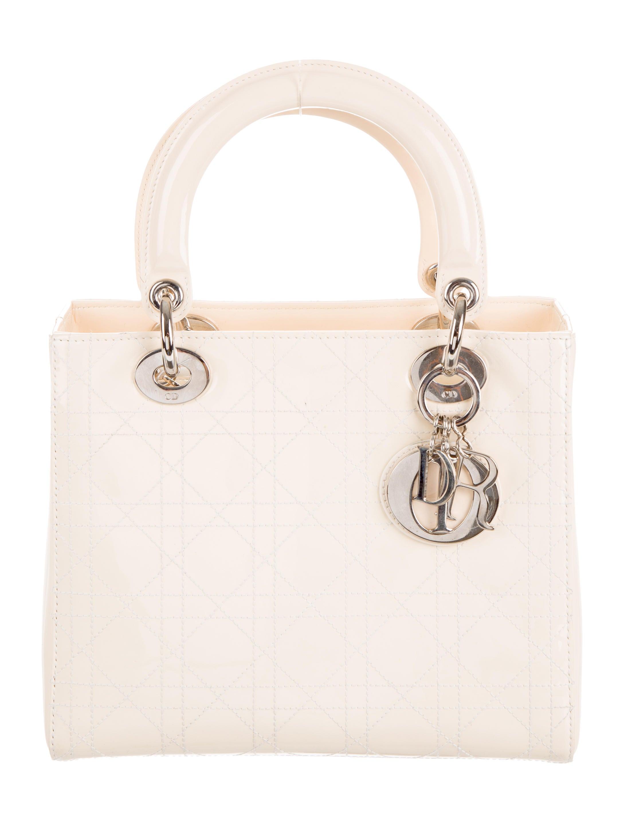 christian dior medium lady dior handbags chr57322 the realreal. Black Bedroom Furniture Sets. Home Design Ideas