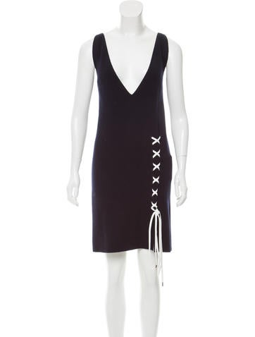 Christian Dior Wool Lace-Up Dress w/ Tags None