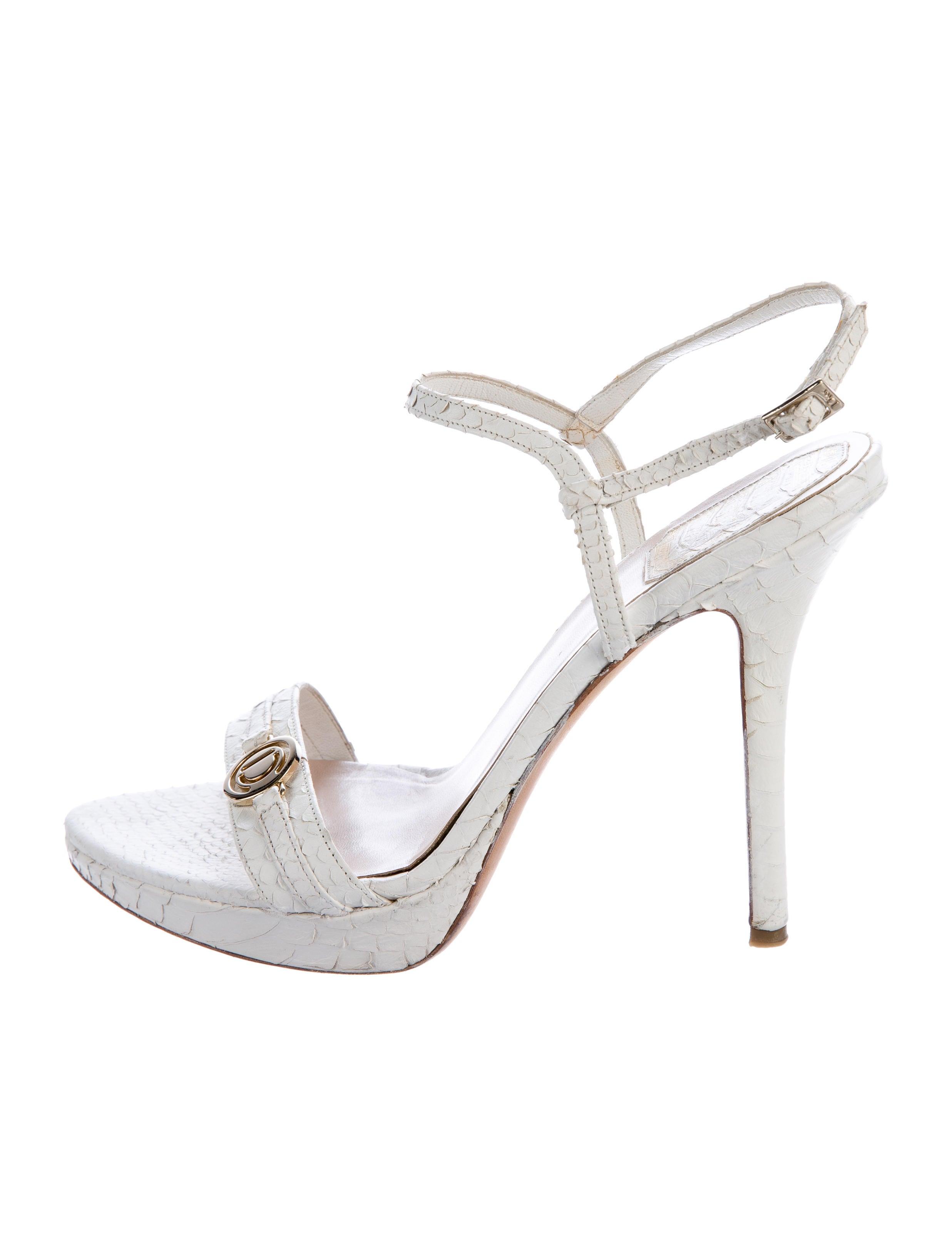 2014 newest online Christian Dior Snakeskin Platform Sandals cheap best store to get VAr1r
