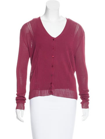 Christian Dior Long Sleeve Cardigan Set None