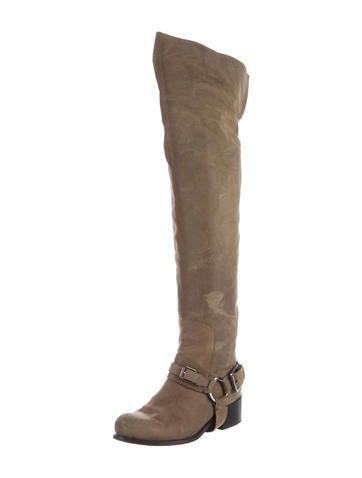 Christian Dior Suede Knee Boots outlet discount authentic outlet online shop T2J4dw