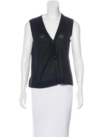Christian Dior Rib Knit Sleeveless Top None
