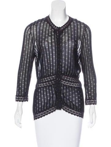Christian Dior Long Sleeve Knit Cardigan None