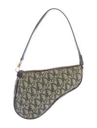 ab1ed6aed7d Christian Dior Oblique Saddle Bag - Handbags - CHR58341 | The RealReal