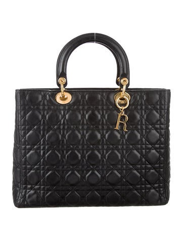 Christian Dior Large Lady Dior Satchel None